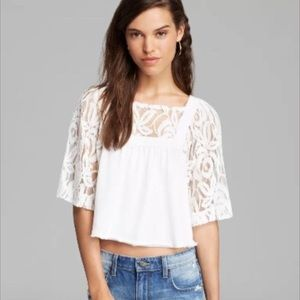 Free People | Catalina Cropped Lace Top